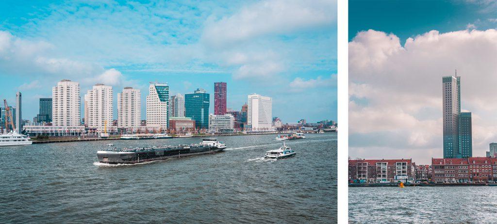 Kade van de Nieuwe Maas in Rotterdam